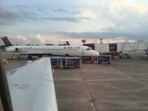 Delta Air Lines MD-90 Full Flight from Minneapolis to San Jose
