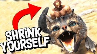 SHRINK YOURSELF & RIDE SMALL DINOSAURS! - ARK Survival Evolved
