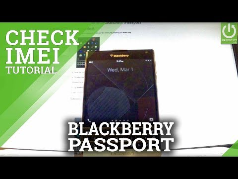 How to Check IMEI in BLACKBERRY Passport - IMEI Information
