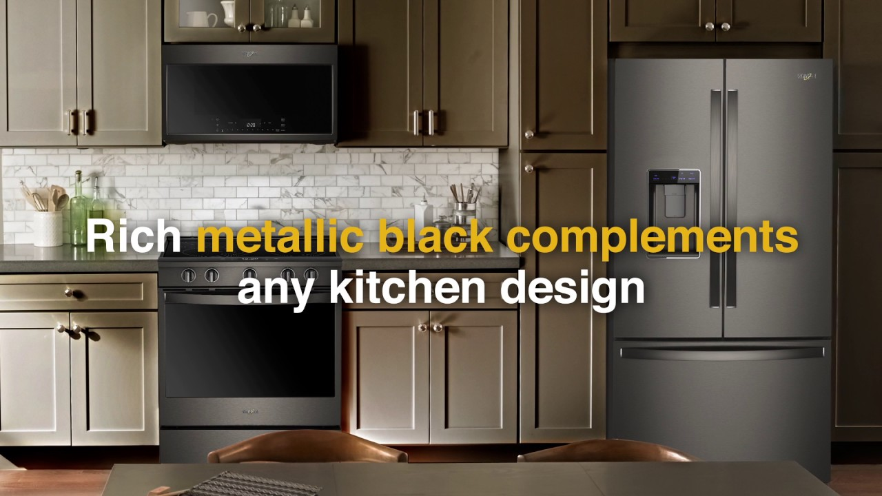 whirlpool black stainless steel appliances fingerprint resistant whirlpool ces 2017 black stainless suite youtube