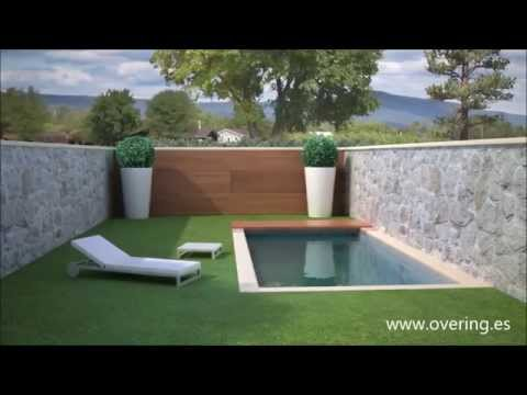 Cubierta de piscina convertible en pared youtube - Cubierta para piscinas ...