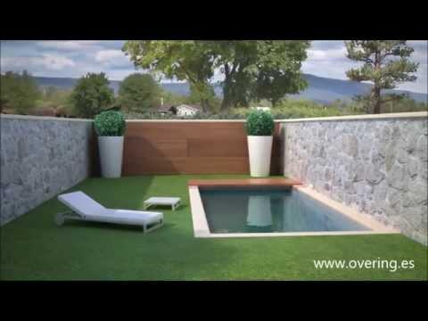 Cubierta de piscina convertible en pared  YouTube