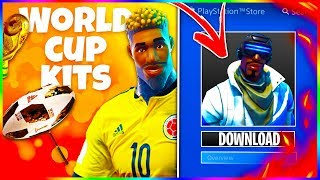 "PS4 ""EXCLUSIVE SKIN"" PACK For GRATUIT - WORLD CUP Skins -LEAKEDMD In Fortnite Patch v4.4!"