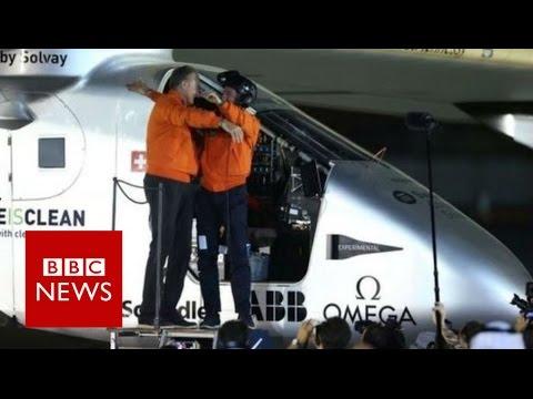Solar Impulse completes historic round-the-world trip - BBC News