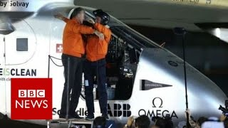 Solar Impulse completes historic round-the-world trip - BBC News