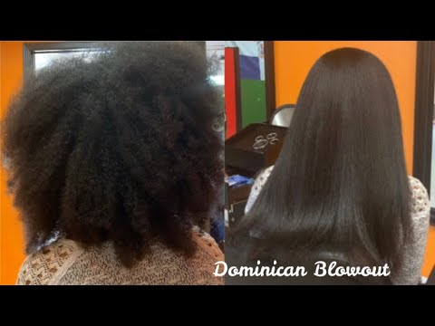 Dominican Blowout On 4 Type Natural Hair