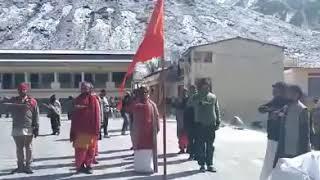 RSS Shakha at an altitude of 3.5 kilometer at Kedarnath.