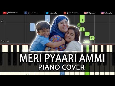 Meri Pyaari Ammi Song Secret Superstar |Piano Cover Instrumental By Ganesh Kini
