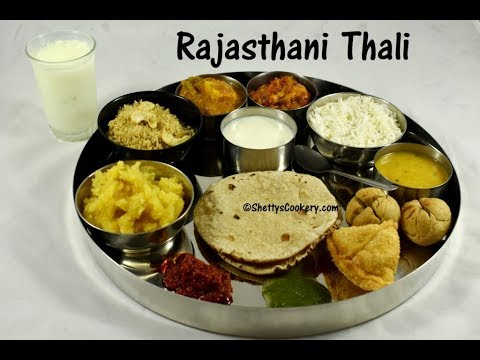 Rajasthani Thali Indian Lunch Menu Ideas North Recipe
