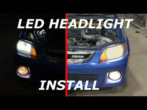 How-To: Mazda Protege LED headlight Install