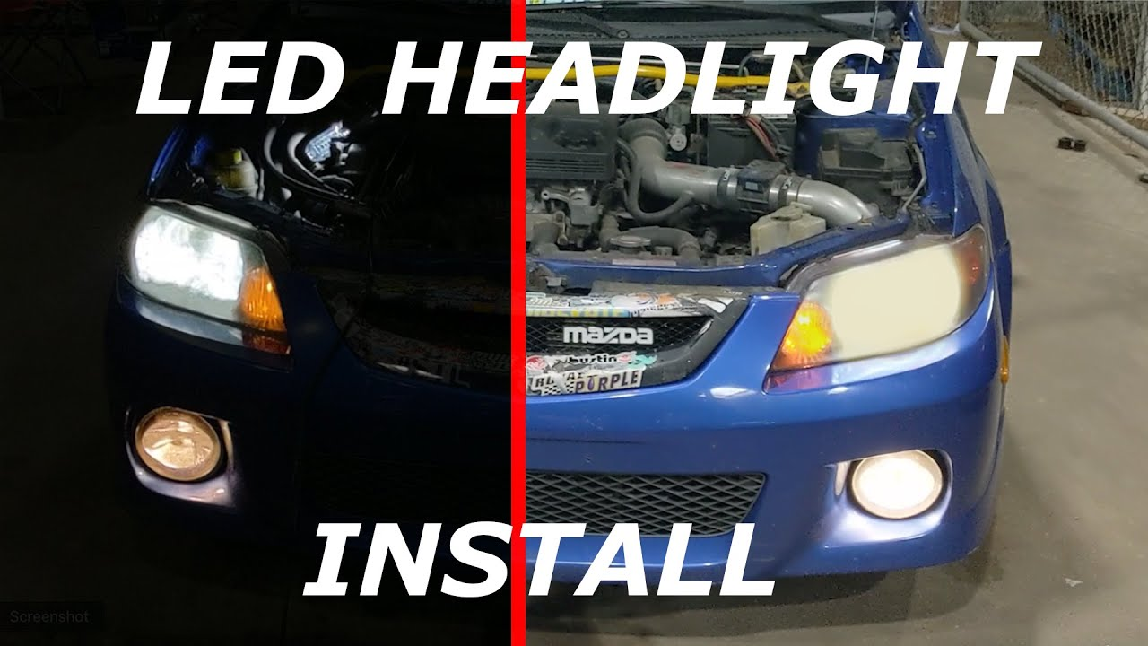 [TBQL_4184]  How-To: Mazda Protege LED headlight Install - YouTube | Mazda Protege Headlight Wiring |  | YouTube
