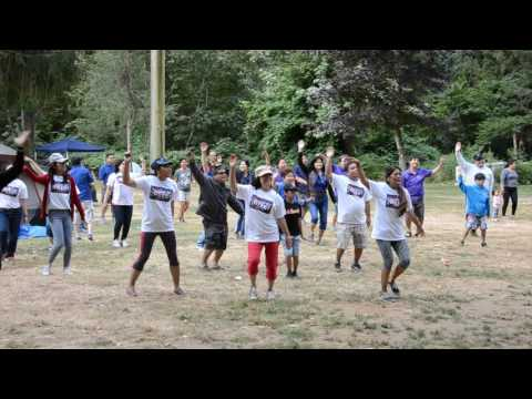 Zumba exercise at Family Camp