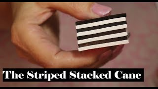 Creating with a Simple  Stacked Stripe Cane from Polymer Clay