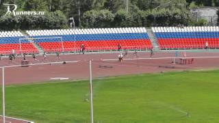 4-ый забег 1500 метров ЧР среди юниоров 2012 г.Чебоксары