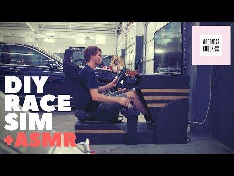 Epic DIY Race Sim - Woodwork ASMR