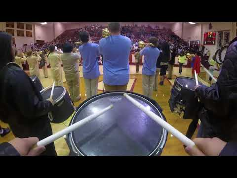 Byng High School Band Court Show(Snare Cam)
