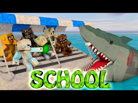 Minecraft School | Military School of Mods - Jaws Shark Attack! (Jaws, Sharks, Great White)