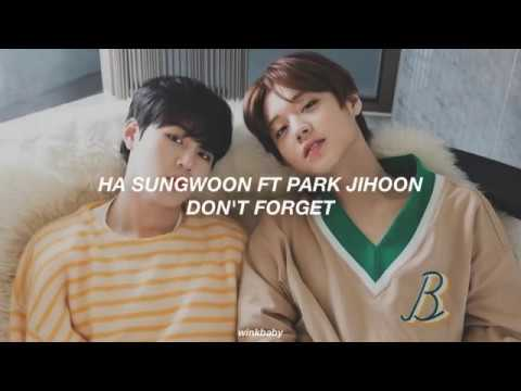Ha Sungwoon Ft Park Jihoon // Don't Forget ; 잊지마요 (sub Español)