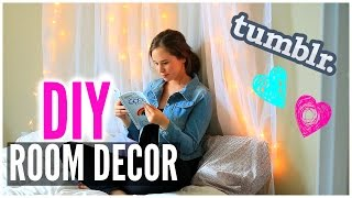 Diy Room Decor: Wall Art & Headboard! Tumblr Inspired