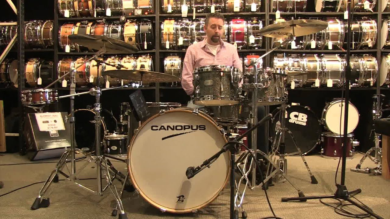 canopus yaiba 5pc groove drum set 22 10 12 16 14x6 5 matching snare youtube. Black Bedroom Furniture Sets. Home Design Ideas