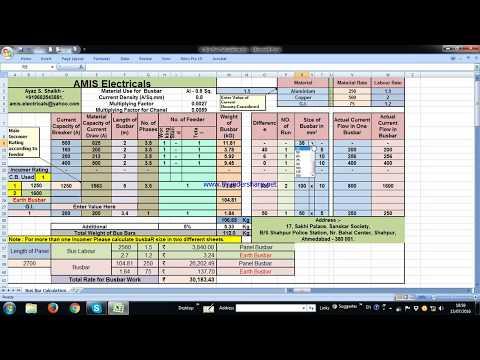 Busbar Calculation - YouTube
