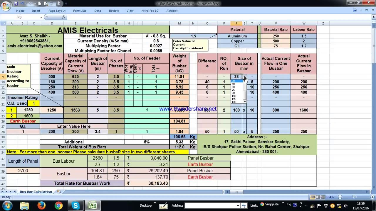 Busbar Calculation