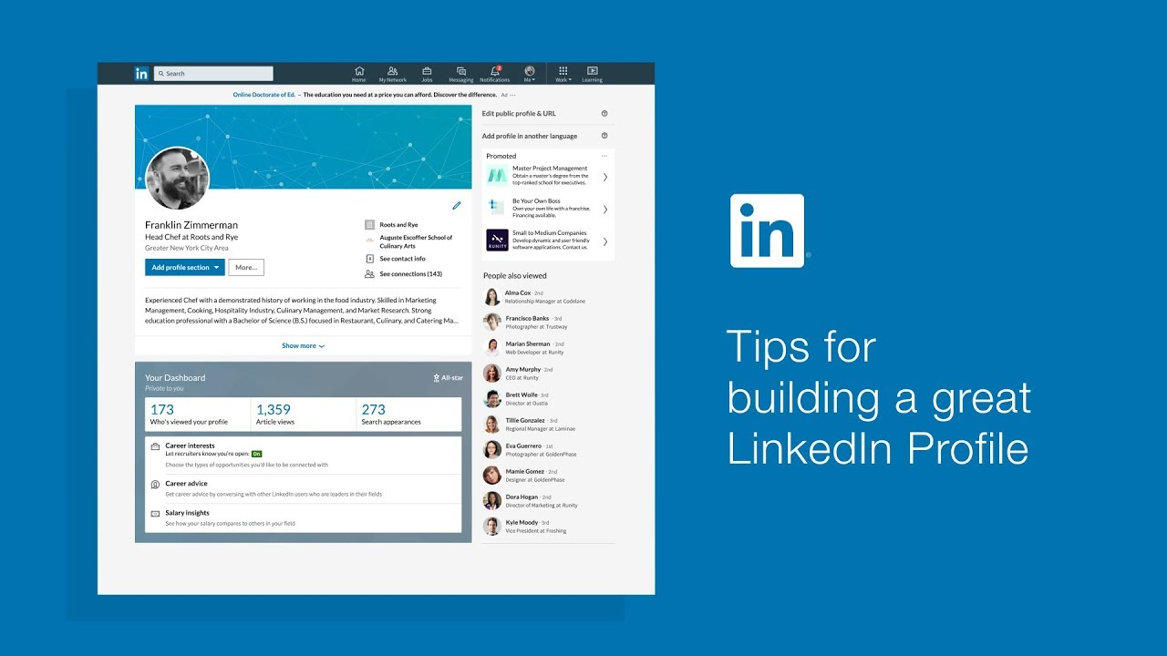 how to make a great linkedin profile
