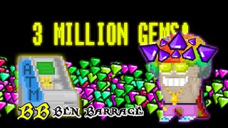 Growtopia - 3 million gems! + Pro ATM tips
