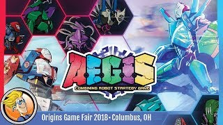 A.E.G.I.S.: Combining Robot Strategy Game — game preview at Origins 2018