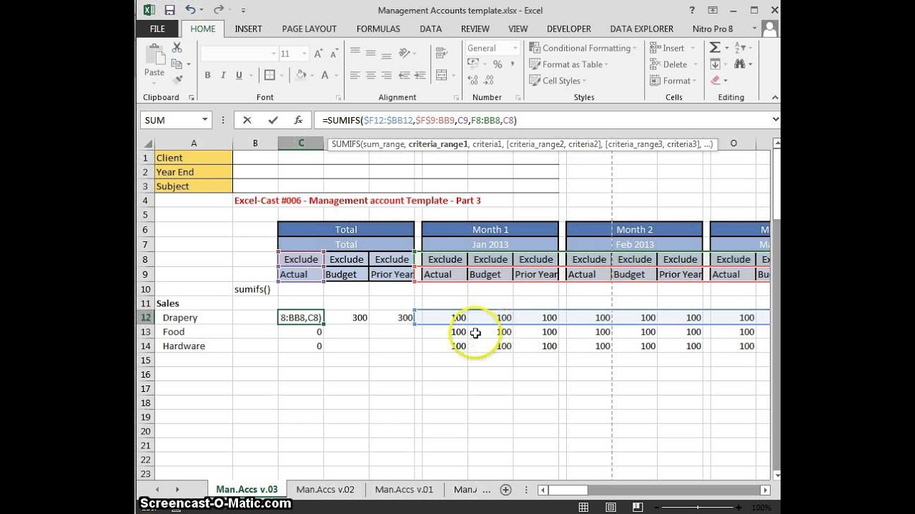 excel-cast  006 management accounts template