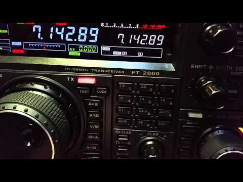 Yaesu FT-2000 functions and RX on 40M band.