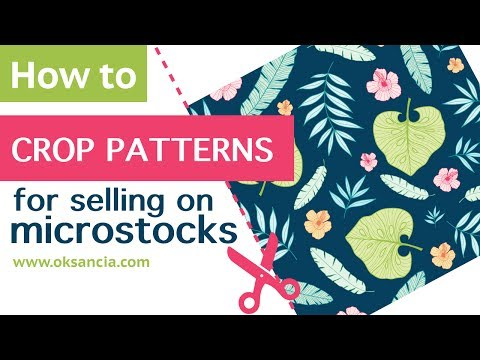 How to crop vector repeat pattern artwork for uploading to microstock  websites