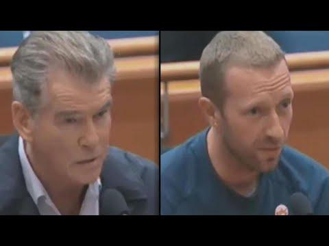 Chris Martin, Pierce Brosnan Praise Woolsey Fire First Responders at Meeting