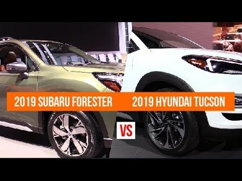 2019 Subaru Forester Vs 2019 Hyundai Tucson Youtube
