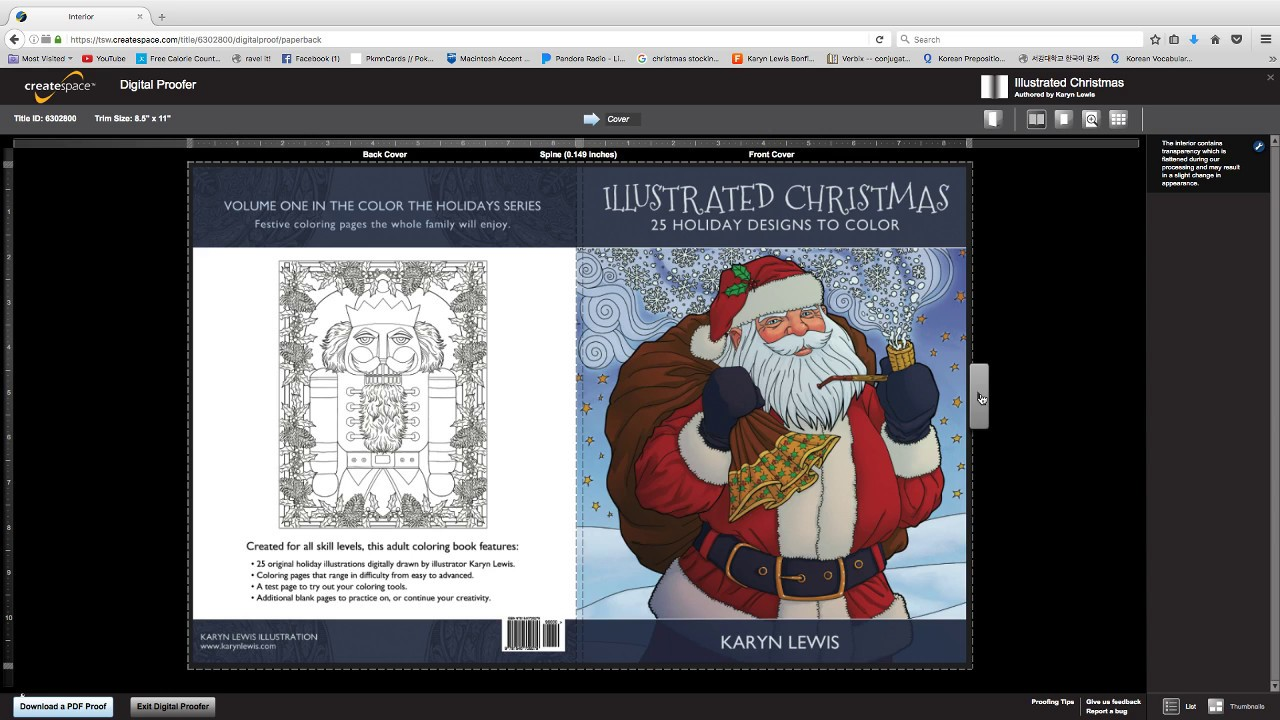 Digital Preview Of My Christmas Coloring Book For Adults Youtube