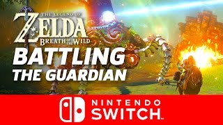 Guardian Battle - Legend of Zelda: Breath of the Wild Gameplay