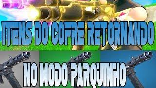 FORTNITE BATTLE ROYALE ITENS DO COFRE RETORNANDO NO MODO PARQUINHO