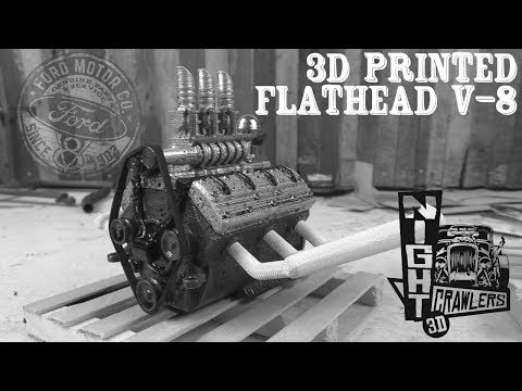 3D Printed Ford Flathead V8 Engine Kit by Night Crawlers 3D - Speed