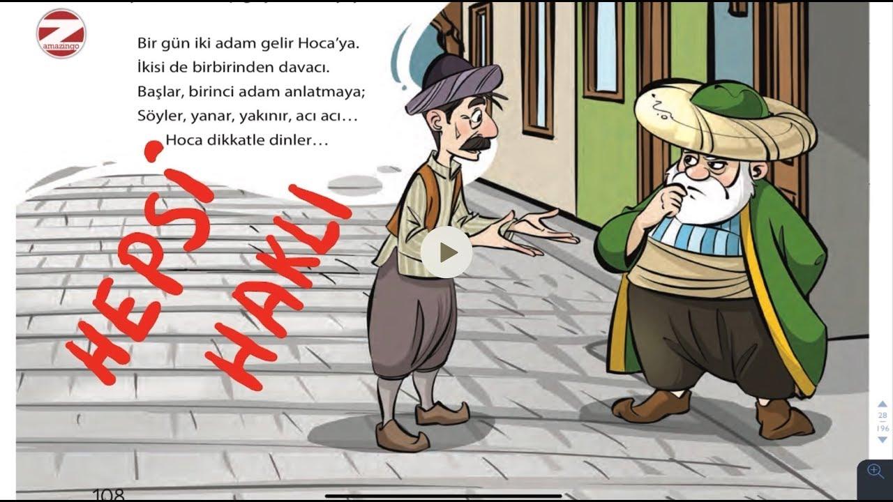 Hepsi Haklı Metni Cevapları 4. Sınıf Türkçe Dersi