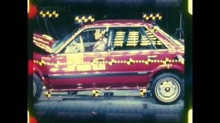 Subaru Leone / DL / L-Series | 1985 | Frontal Crash Test | NHTSA | CrashNet1