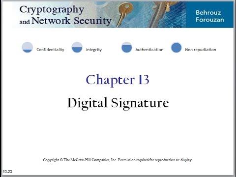 أمن المعلومات/ التوقيع الرقمي (Digital Signature)