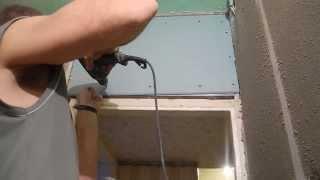 Монтаж перегородки из гипсокартона(Этот ролик относится к видеоподборке*Облицовка ванной комнаты.В нем показано как смонтировать перегородку..., 2013-11-23T17:27:50.000Z)
