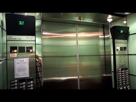 1993 OTIS Elevonic 401 high-rise traction elevators @ 253 Asoke Building, Bangkok, Thailand