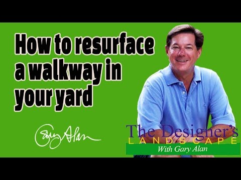 How to resurface a walkway Designers Landscape#619