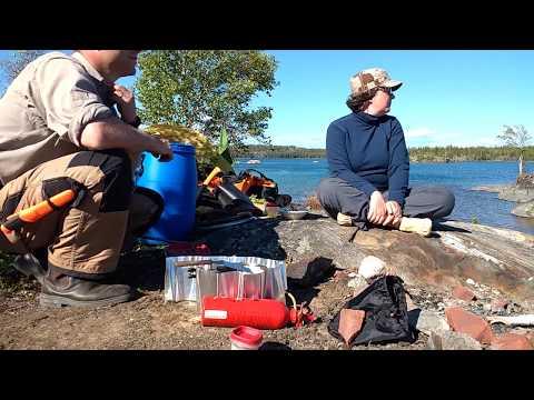 Canoe Camping at Hidden Lake, outside Yellowknife, NWT. MSR Dragonfly and Hubba Hubba.