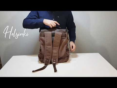 EIKEN - HELSINKI - Vintage Leather & Canvas Backpack