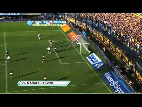 Lanzini y el gol más rápido en la historia del Superclásico