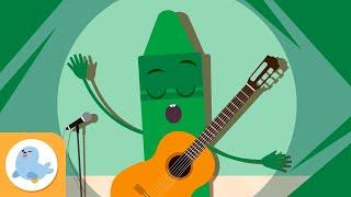 El color verde para niños - Aprende los colores - Canciones de los colores