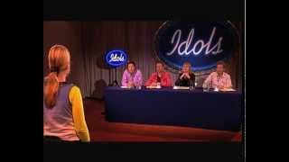 "Hilarious audition of Claudia singing ""In Nije dei"" - Audition - Idols season 1"
