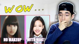 TWICE - With Makeup vs Without Makeup!